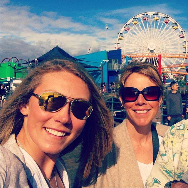 Eileen, su madre, ha tenido un papel fundamental en la trayectoria de la esquiadora FOTO: Facebook Mikaela Shiffrin