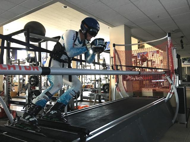 La prueba se realizó sobre un trazado de descenso de la Copa del Mundo previamente grabado FOTO: usskiteam.com