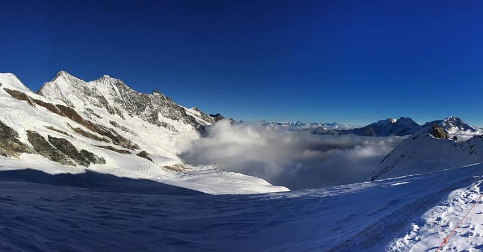 Excelentes condiciones del glaciar de Saas Fee FOTO: Marc Boix