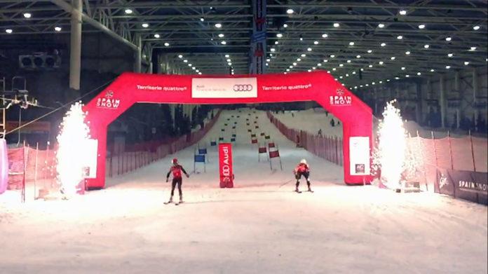 La primera prueba de la Copa España Audi U-16 tuvo lugar en el Madrid Snowzone FOTO:RFEDI