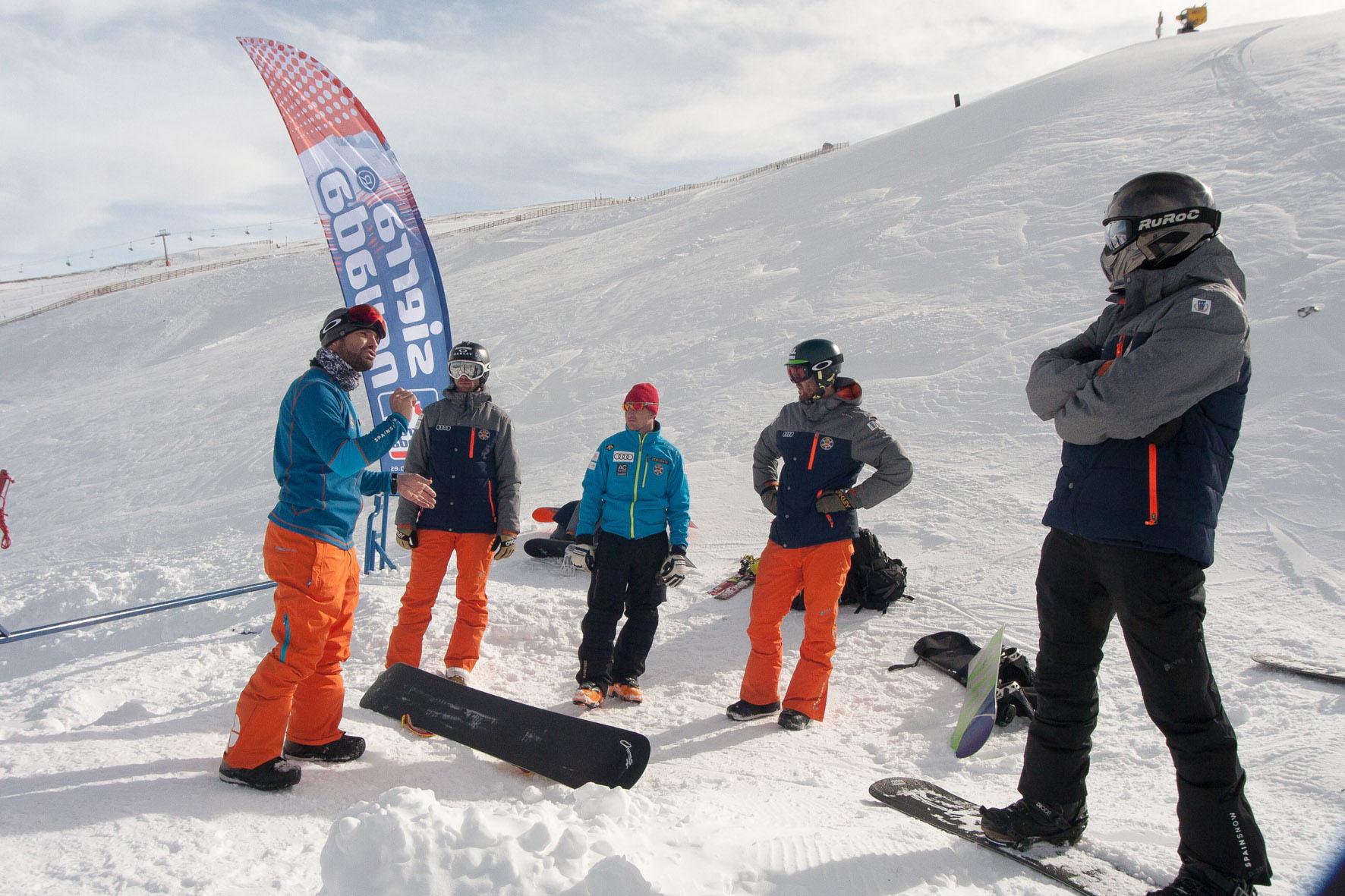 Sierra nevada acoge estos días los entrenamientos del equipo SBX de la RFEDI FOTO: Canito/Sierra Nevada