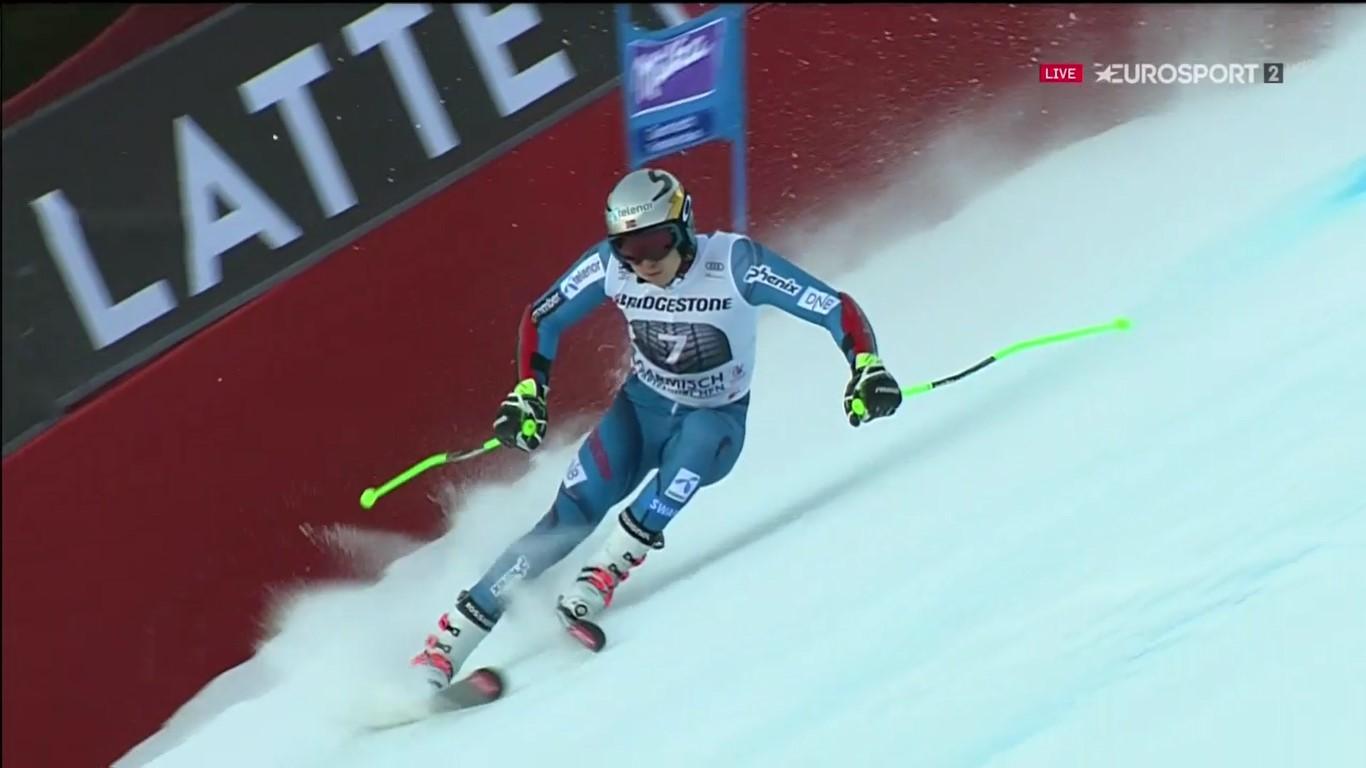 Henrik Kristoffersen no ha estado a la altura de lo esperado y Marcel Hirscher se le escapa un poco más en la general FOTO: Eurosport