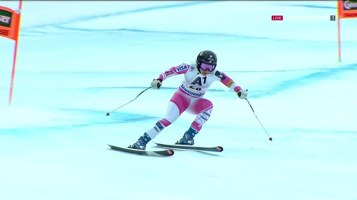 Jacqueline Wiles, la otra sorpresa agradable del descenso de Altenmark con su tercera plaza FOTO: Eurosport