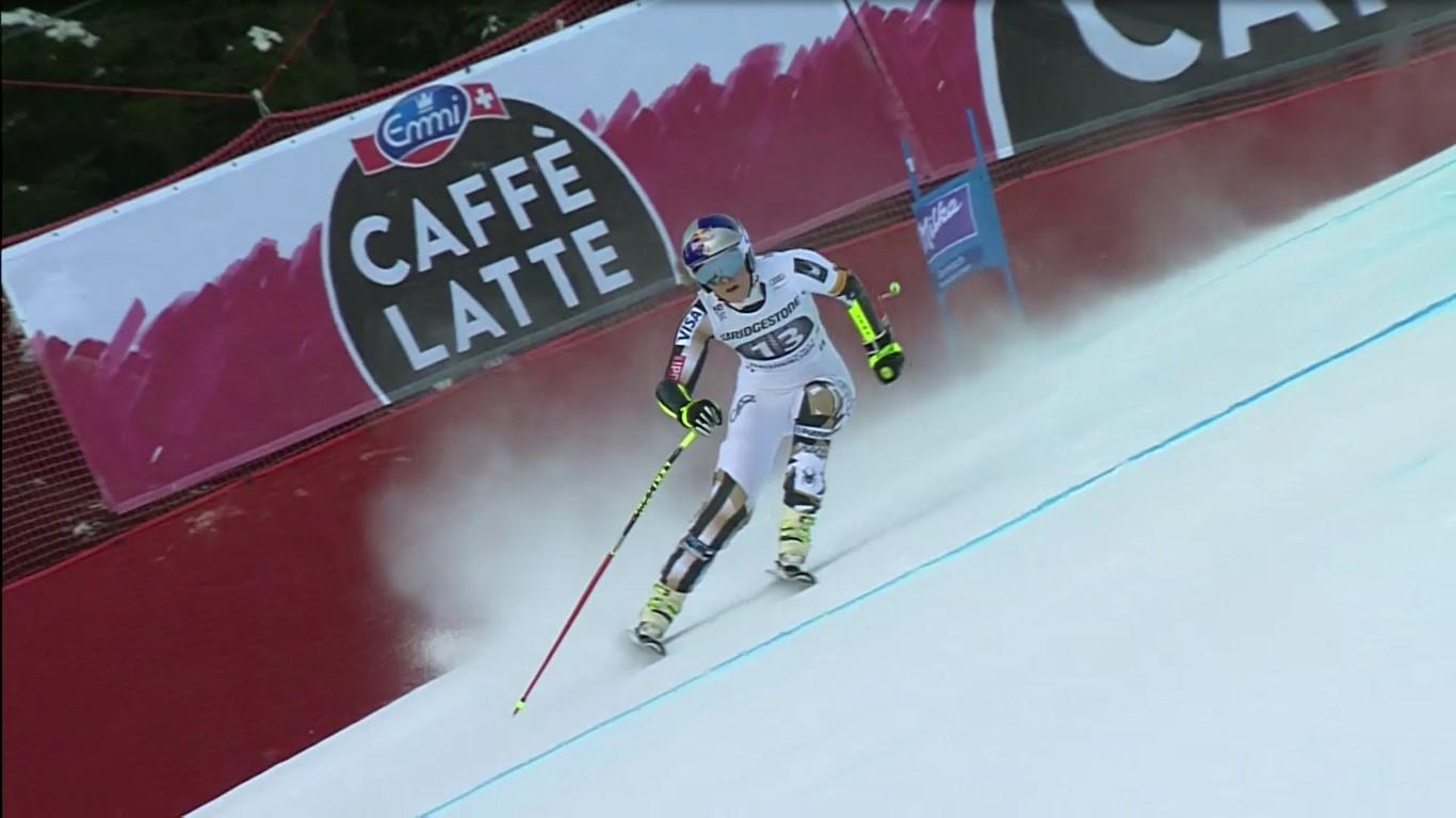 Lindsey Vonn no se encontró cómoda en ningún momento y acabó novena FOTO: Eurosport