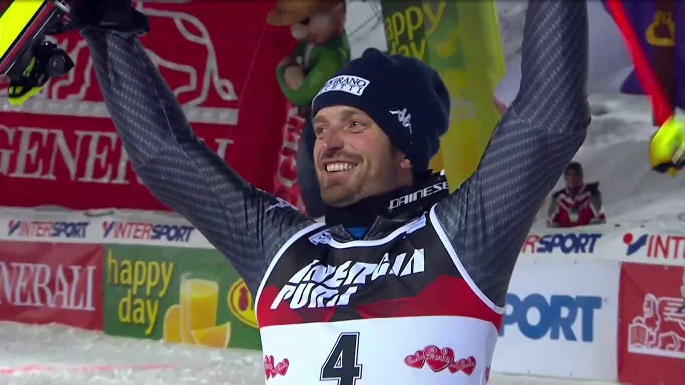 Manfred Moelgg ha ganado en Zagredn el slalom del cincuentenario ocho años después de su última victoria FOTO: Eurosport