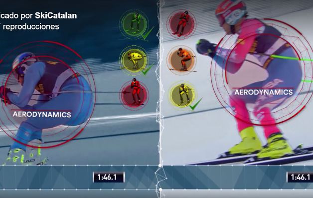 Diferentes puntos aerodinámicos para ganar un descenso FOTO/ VÍDEO: SkiCatalan