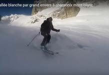Una imagen del descenso de la Vallée Blanche