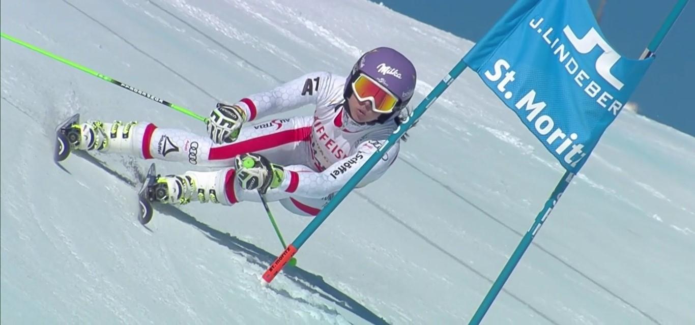 Para Anna Veith, salida de una grave lesión, el Mundial de St Moritz ha sido muy distinto al de Vail FOTO: Eurosport