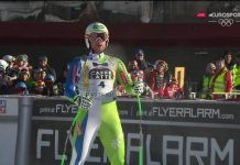 Bostjan Kline ha dado la sorpresa y ha ganado en el descenso de Kvitfjell, su primera victoria en la Copa del Mundo FOTO: Eurosport