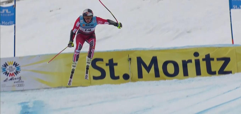 Erik Guay se ha llevado su segundo título mundial, el de super G en la Corviglia de St Moritz FOTO: Eurosport