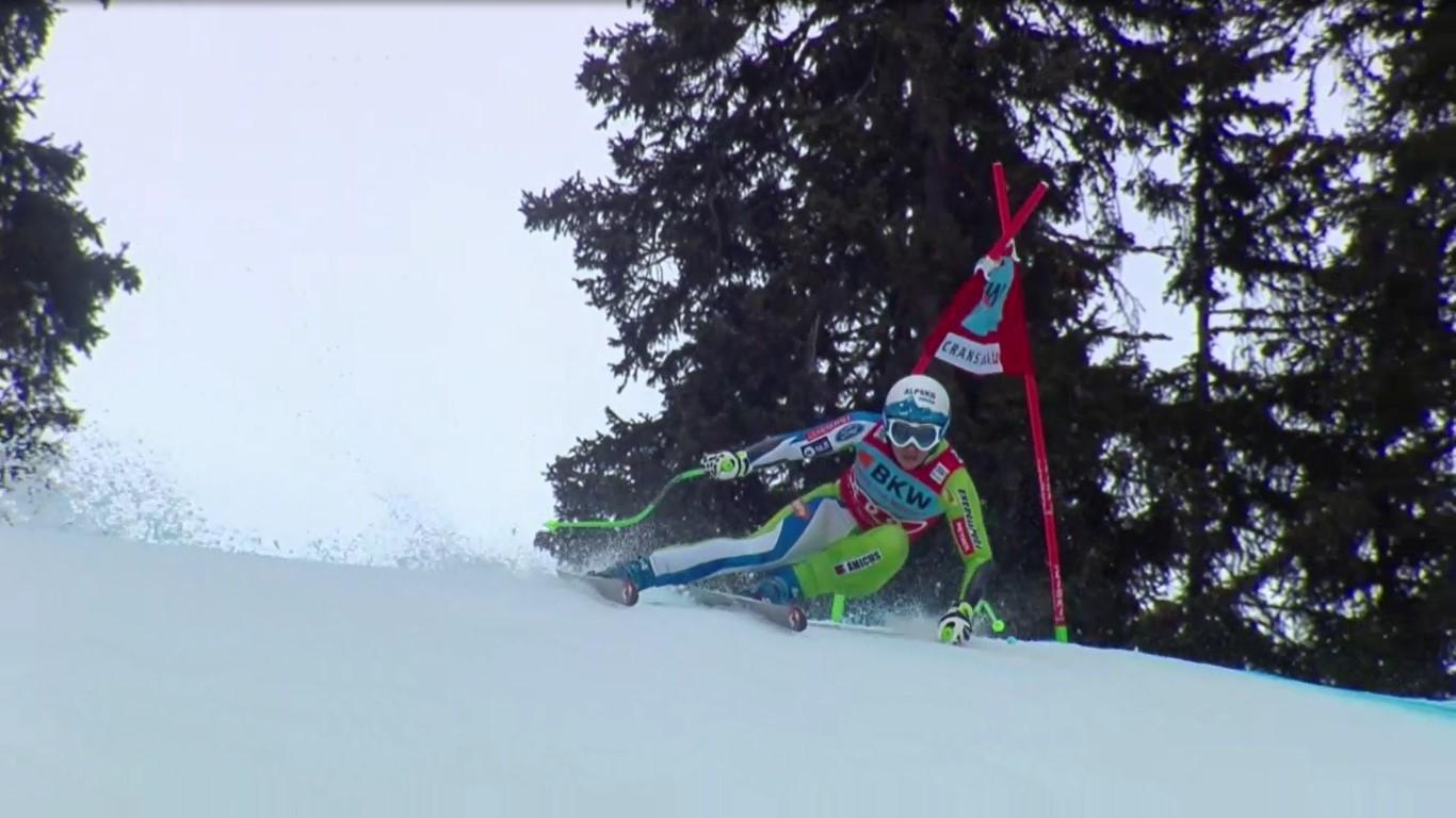 Ilka Stuhec, la más rápida en el super G, ha acabado segunda FOTO: Eurosport