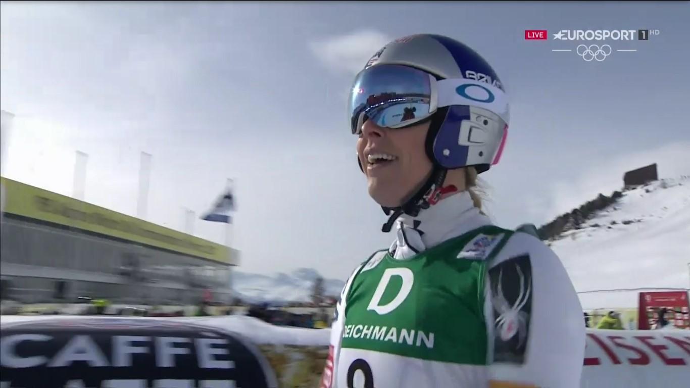 Lindsey Vonn se ha colgado su séptima medalla en un Mundial al quedarse el bronce en el descenso de hoy FOTO: Eurosport