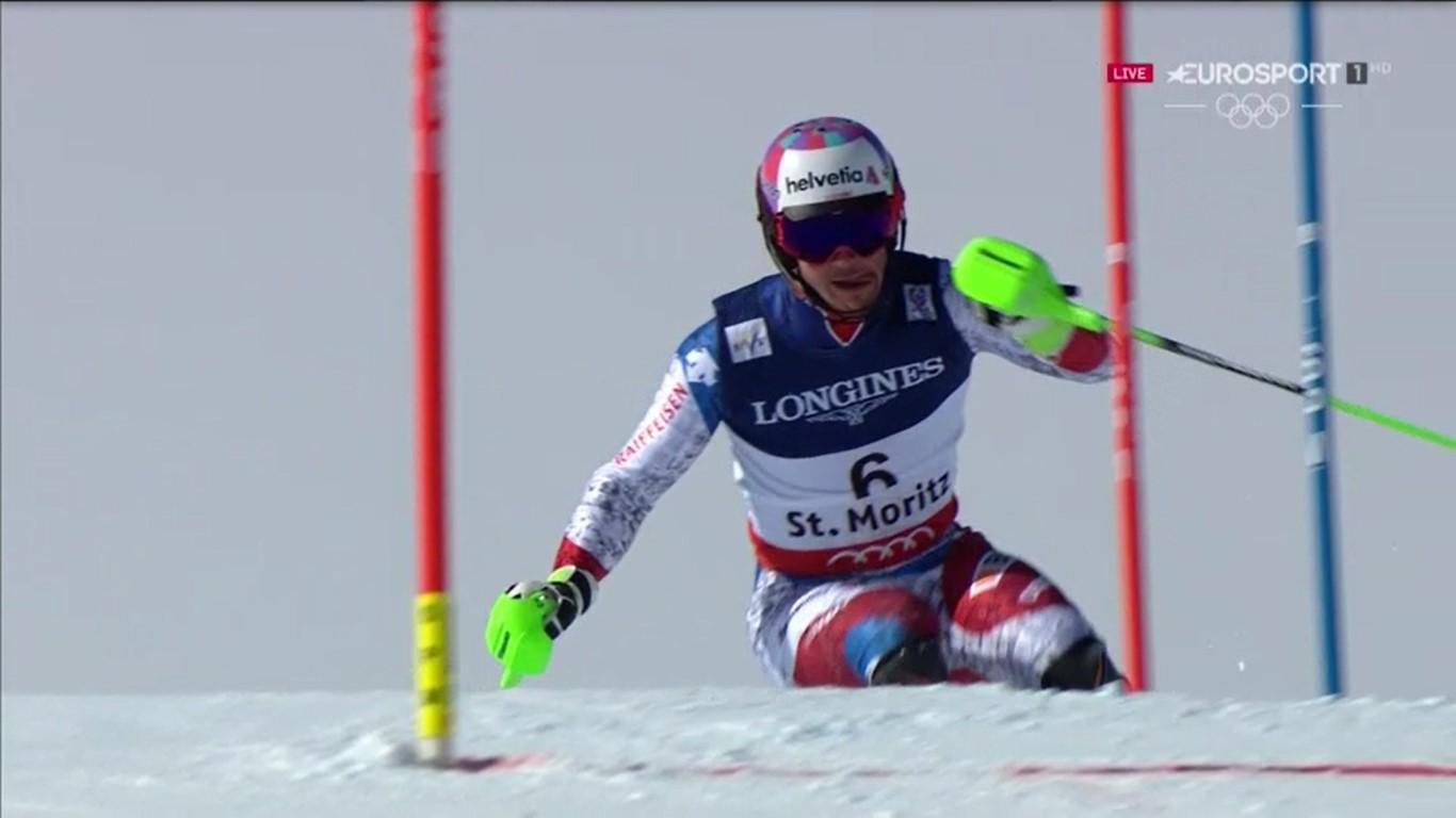 Luca Aerni dio la sorpresa al lograr el oro en la combinada FOTO: Eurosport