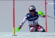 Luca Aerni ha 'explotado' delante de su afición y se ha proclamado campeón del mundo de la combinada FOTO: Eurosport
