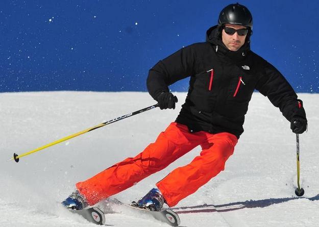 La pasión de Marc Pueyo por el esquí, tercer integrante del grupo, le viene de muy pequeño