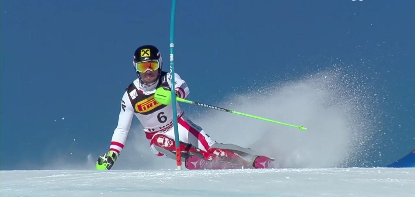 Hirscher ha logrado su segundo título de slalom tras el de Schladming, ha ganado el gigante y perdió la combinada por una sola centésima FOTO: Eurosport