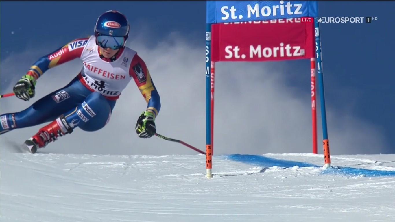 Mikaela Shiffrin ha ganado su primera medalla en un gigante mundialista, una plata FOTO: Eurosport