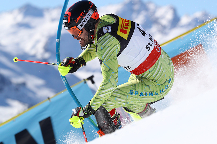 Quim Salarich, en el slalom del Mundial de St Moritz FOTO: RFEDI Pentaphoto