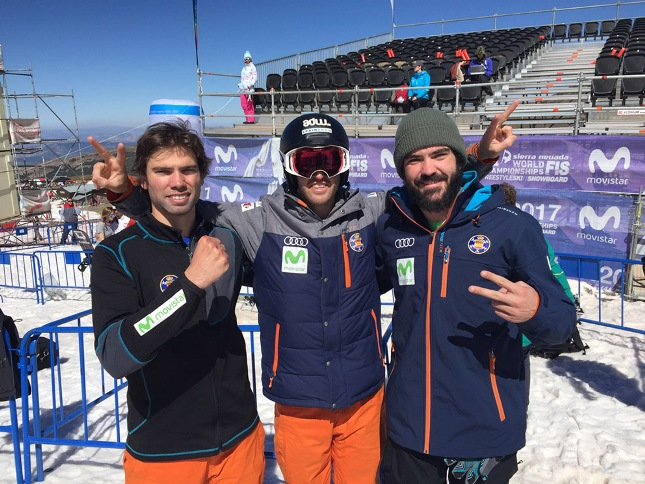 El trío de snowboard cross español pasa el corte para la final de domingo