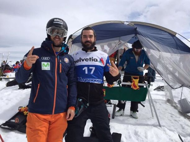 Eguíbar y Hernández disputaron las finales de snowboard cross en Veysonnaz