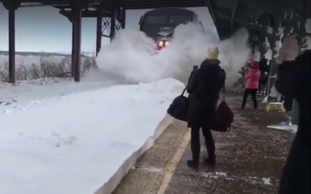Entrada de un tren en Rusia