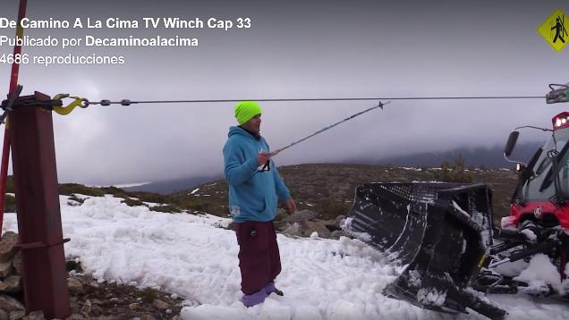 De Camino a la Cima TV muestra un vídeo informativo del trabajo con de las máquinas con Winch