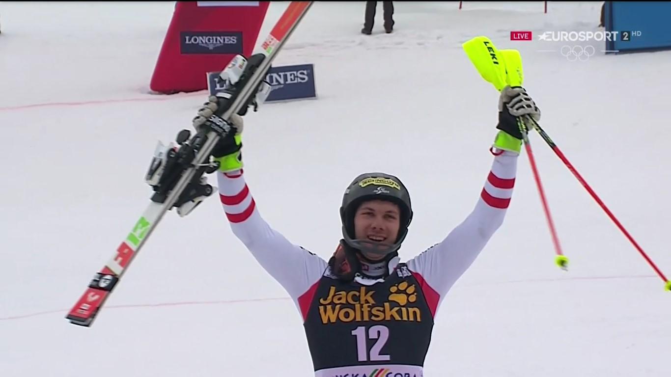Michael Matt ha estrenado en el slalom de Kranjska Gora su palmarés en la Copa del Mundo FOTO: Eurosport