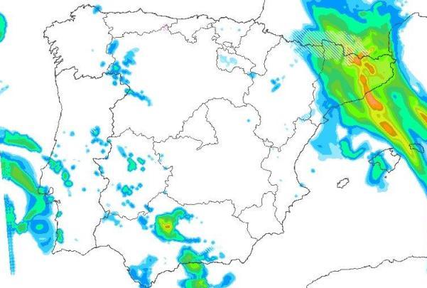Mientras una perturbación seguirá activa este viernes por la zona del sur este de la península, la borrasca de levante abrasará los Pirineos con nevadas intensas
