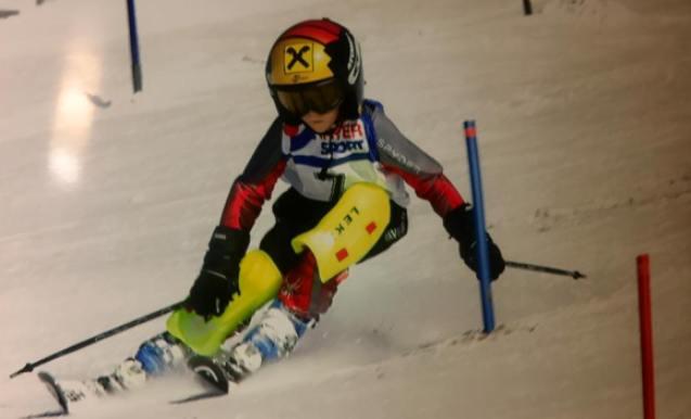 Luca, futura promesa del esquí alpino con diferencia