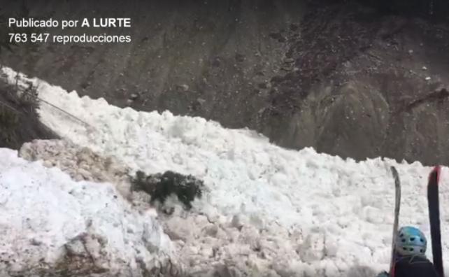 Avalancha de nieve húmeda en las Rocosas sorprende a cuatro esquiadores españoles de montaña