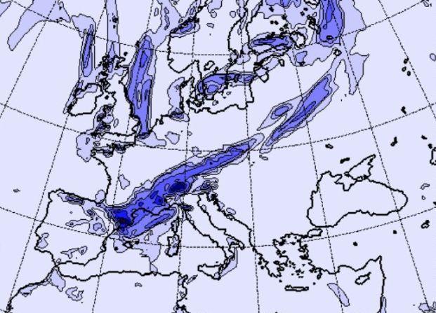 El frente atlántico barrerá la Península con nieve en cotas bajas