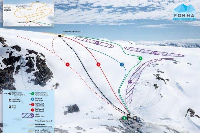 El glaciar promete bajadas de ensueño con nieve polvo y las vistas de los fiordos como telón de fondo