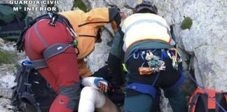 Los montañeros fueron rescatados por el Grupo de Rescate e Intervención en Montaña de la Guardia Civil en Benasque