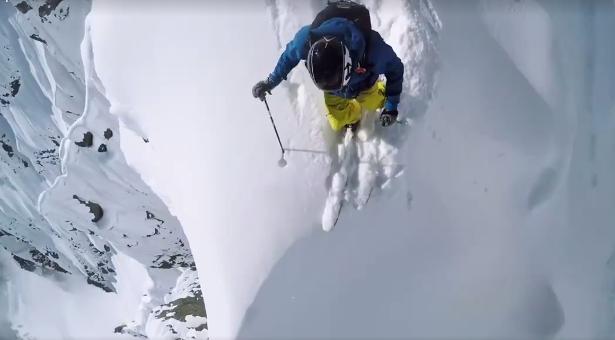 Freeride extremo en los Alpes suizos