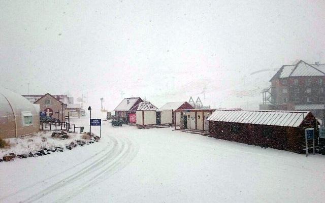La nieve y el viento han sido los protagonistas los últimos días en la estación argentina