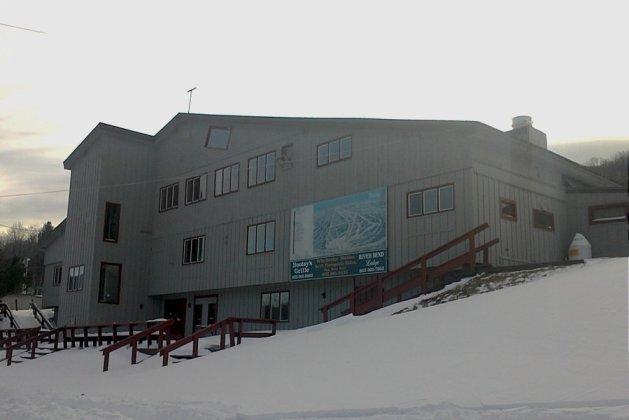 Uno de los edificios de servicios de la estación de Vermont
