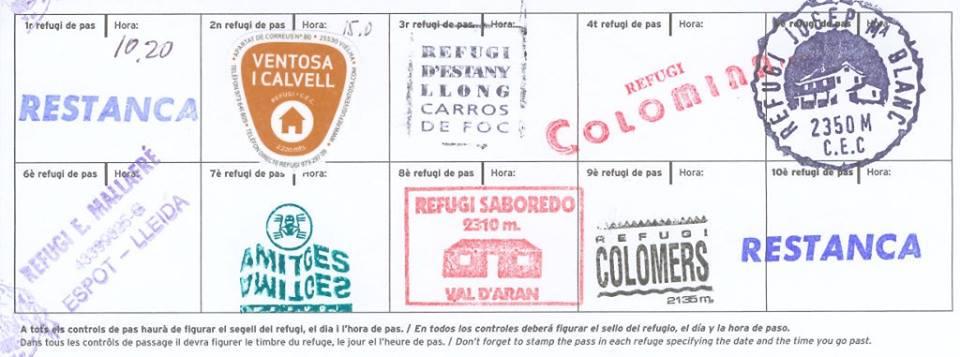 Pasaporte con los sellos de paso certificados