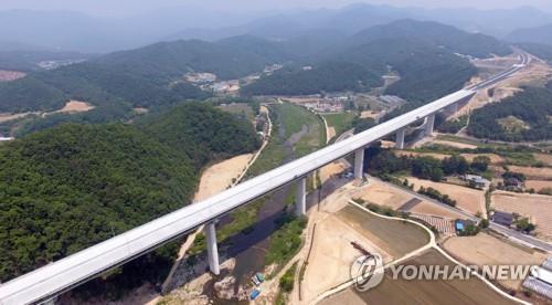 Viaducto de la nueva Autopista Dongseo
