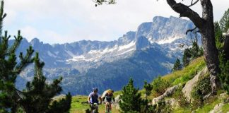 Las salidas en btt se enmarcan entre inmejorables paisajes de la Val d'Aran