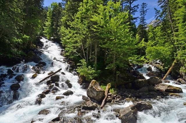 Cascadas, riachuelos y bosque forman parte del decorado durante las salidas de montaña