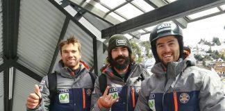Los tres snowboarders irán a por todas este domingo en la segunda prueba de SBX