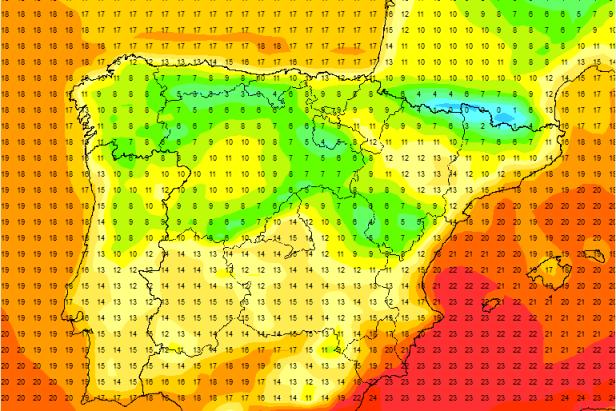 El tiempo de otoño se va imponiendo con algunas heladas en zonas de los Pirineos