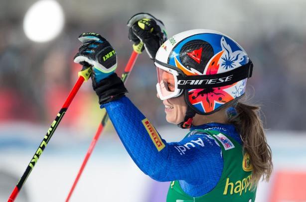 Manuela Moelgg ha sido la más rápida en la primera manga pero en la segunda ha dicho que le molestaron las trazas. Pese a ello ha acabado tercera