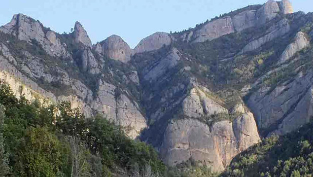 Aspecto de la zona cercana al monasterio de Obarra en Huesca