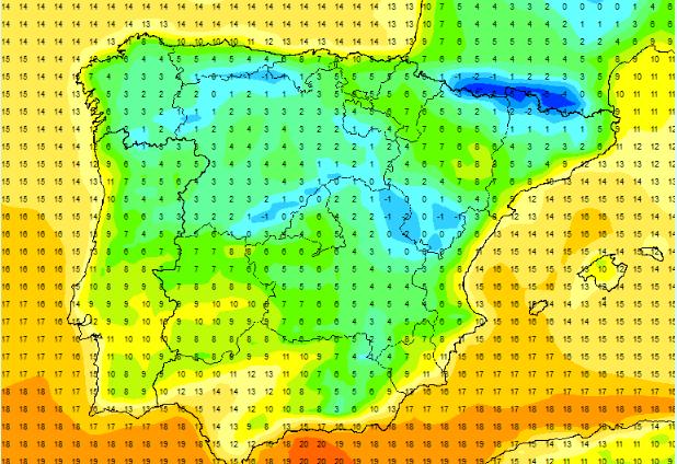 A partir del lunes próximo, la bajada de las temperaturas será importante