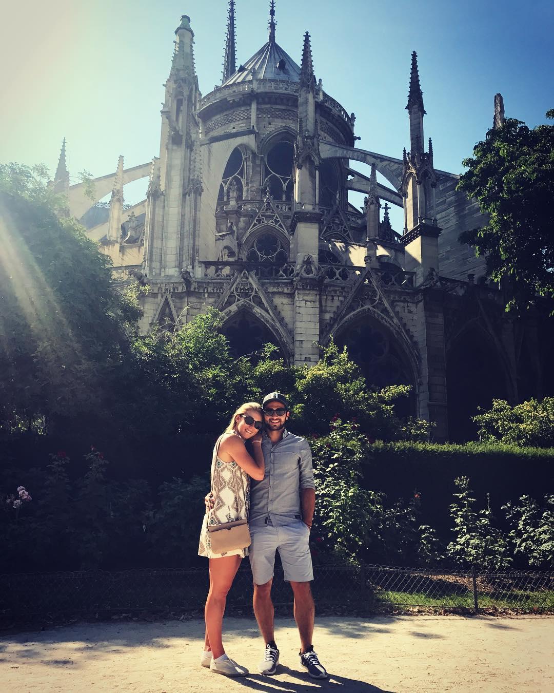 Mathieu Faivre y Mikaela Shiffrin, en París
