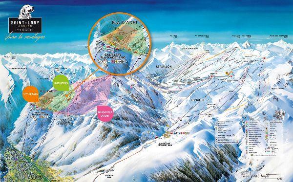 Plano de pistas de Saint Lary Soulan