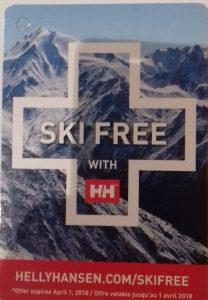 Ski Free, forfaits y prendas gratis comentando las sensaciones llevando la marca noruega