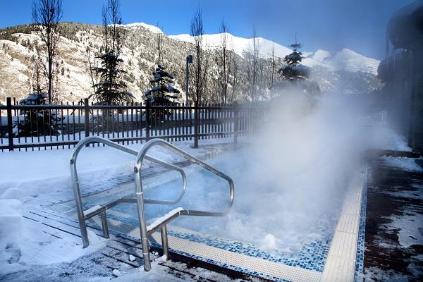 La zona de spa de Park Piolets asegura un tiempo de relajación y recuperación a los visitantes