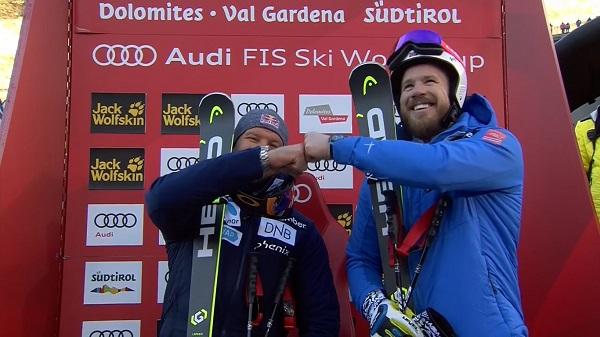 Svindal y Jansrud, doblete noruego en Val Gardena